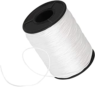ZKSM 150 Yards/Roll Lift Cord 1mm Braided Shade Roller Blinds Cord White Pull String Rope for Aluminum Blind Shade Repair and DIY Crafts Projects(Max Load 66lb)