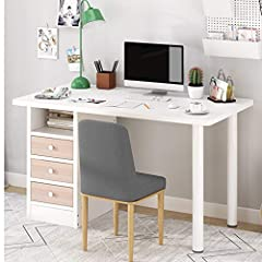 🐧 Stylish and simple style, suitable for any decoration style. 🐧 Convenient storage, 3 drawers and 1 open cabinet door, you can sort more items. 🐧 Round steel tube legs, strong and durable, strong bearing capacity, stable structure. Product size: 100...
