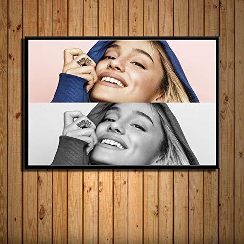 Yiwuyishi Popular Music Star Aryan Beauty Picture Pintura en Lienzo Póster Dormitorio Sala de Estar Arte Decoración de la Pared Colección de fanáticos del hogar 50x70cm P-1070