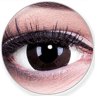 6eaa69fac8 Colores Mini Black esclerótica 17 mm Negra Contacto lente Lenses Incluye 60  ml Cuidado de y