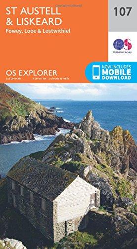 OS Explorer Map (107) St.Austell,Liskeard, Fowey, Looe and Lostwithiel