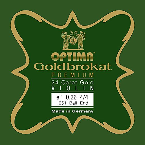 OPTIMA Goldbrokat 24K GOLD Premium Violin E1 0.26 Ball End 4/4