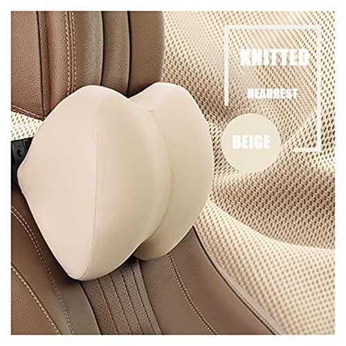 XIAOXU MIN Reposacabezas de coche Cojín lumbar Memoria de espuma rellena Almohada de automóvil Almohada cervical Soporte lumbar Accesorios para automóviles Aliviar la fatiga ( Color Name : Beige )