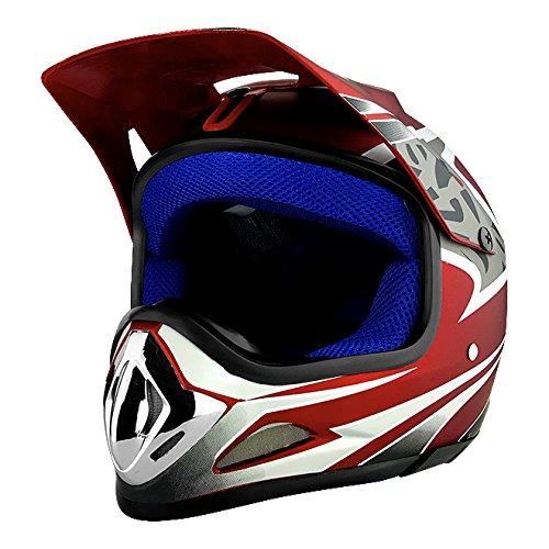 RS Helmets RS-8696-R Red- Best Dirt Bike Helmet Under 100