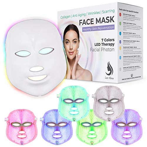 Red Light Therapy LED Face Mask 7 Color | LED Mask Therapy Facial Photon...