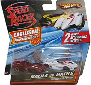 Mattel Hot Wheels Speed Racer Movie Moments - Mach 4 Vs. Mach 6 Thunderhead Raceway