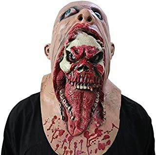 Scary Bloody Zombie Decoration Melting Face Adult Latex Costume Walking Dead For Halloween【Magicalworld】