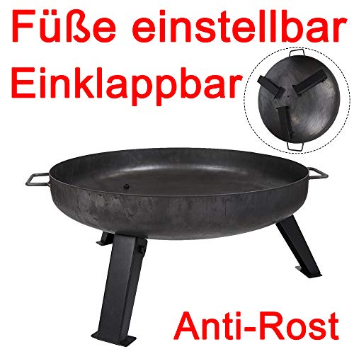 Köhko Feuerschale Ø 55 cm - Beine Anti-Rost lackiert - klappbare und abnehmbare Beine 41003-55
