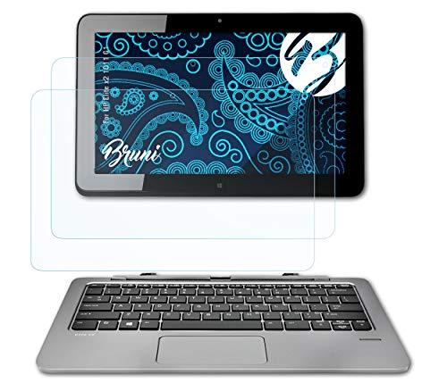Bruni Schutzfolie kompatibel mit HP Elite x2 1011 G1 Folie, glasklare Bildschirmschutzfolie (2X)