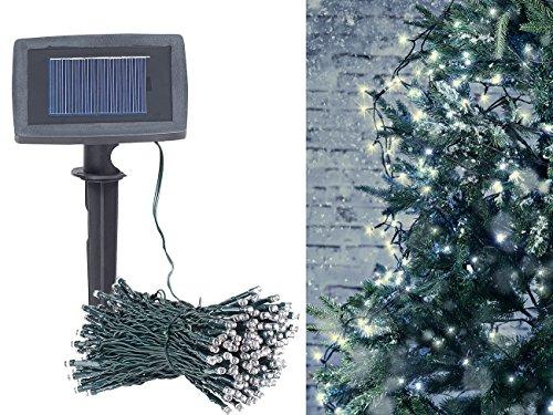Preisvergleich Produktbild Lunartec Solar Kette: Solar-LED-Lichterkette,  200 LEDs,  Dämmerungssensor,  warmw,  20 m,  IP44 (LED Solar Lichterketten warmweiß)