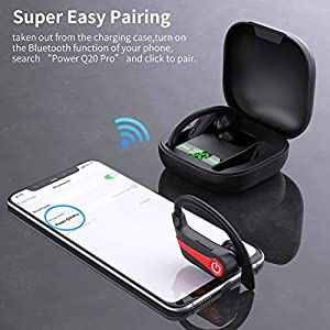 MuGo Wireless Earbuds, Bluetooth 5.1 Sport Headphones with Immersive Sound, Wireless Earhooks Headphones, 10H Single Playtime, CVC8.0 Noise Cancelling, IP7 Waterproof Wireless Earphones for Running