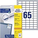 AVERY Zweckform 6121 Universal Etiketten (1.625 plus 325 Klebeetiketten extra, 38x21,2mm auf A4, Papier matt, individuell bedruckbar, selbstklebende Aufkleber mit ultragrip) 30 Blatt, weiß