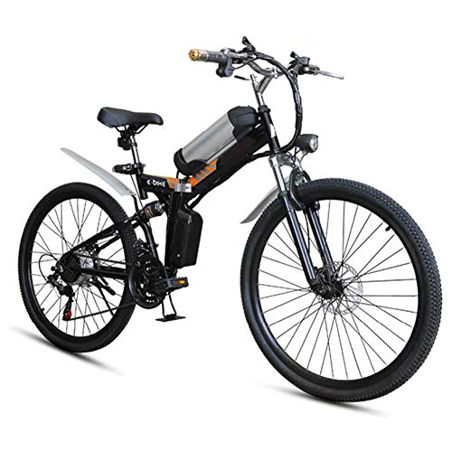 Ainy Folding Electric Mountain Bike 250W Motor 7 Speed 12.5Ah Lithium Battery 3 Mode LCD Display&...
