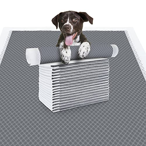 EARTH FRIENDLY Thicker Carbon Dog Pee Pads Super Absorbent & Leak-Proof Dog Potty Training Pads Disposable Odor-Control Pet Puppy Urine Pad with Quick Drying Surface(23.6