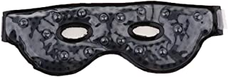 D DOLITY Eye Mask Sleeping Reusable Gel Beads Eye Mask for Hot Cold Therapi, Pain Relieve Mask for Puffy Eyes, Stress Relief, Migraine, Headache and Sinus pain - Black