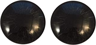 All Black Realsitic Glass Eyes Human Zombie Horror Art Dolls Taxidermy Sculptures or Jewelry Making Cabochons Crafts Matching Set of 2 (30mm)