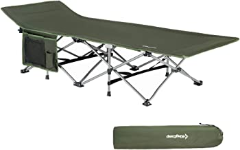 KingCamp Folding Camping Cot for Adults - 1200D Durable Deluxe Collapsible Camping Bed for Indoor & Outdoor Use– Ultra Comfortable & Heavy Duty Design, Carry Bag Includes