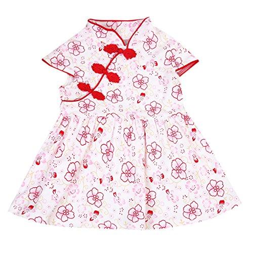 SUNMUY Kids Baby Girl Chinese Cheongsam Dress...