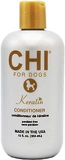 CHI 狗狗角蛋白护发素,340.19 克   适合狗狗和小狗的*佳角蛋白护发素   不含硫酸盐和防腐剂 pH 平衡狗狗,美国制造
