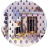 WENZHE 30 Hilos Cortinas de Cuentas de Cristal for Puertas Cortina de Hilos con Cuentas Divisor de Pantalla Hogar Sala Dividir Colgando Estilo Moderno, 4 Colores Opcional