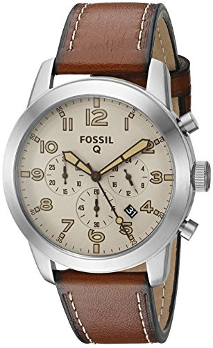Fossil Q Pilot Gen 1 Hybrid Brown Leather Smartwatch
