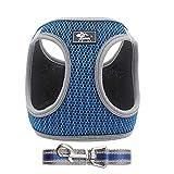 IEUUMLER Tela de Malla Chaleco para Perros Arnés Suave Ajustable cómodo Transpirable Chaleco Arnés con Cinturón IE083 (XS, 073 Blue)