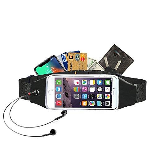 Alfort Running Cinturón, Riñonera Deportiva Impermeable con Cinturón Reflectante, Banda Elástica para Deportes para iPhone 8/7 / Samsung S7 / A8 / A5 / Huawei P10 y Otro Teléfono (5.7'')