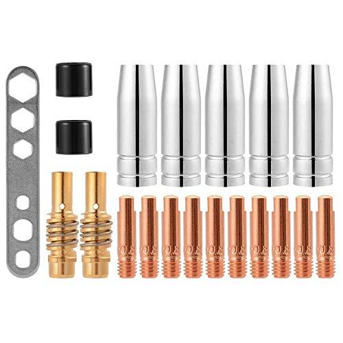 KDOI 20 unids boquillas Consejos de contacto titulares Mig consumibles accesorio para 15Ak Mb15 Mig Mag Co2 soldadura antorcha