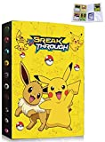 Classeur Compatible Avec Cartes Pokemon, Porte Carte Album Carte Titulaire Livre Compatible Avec Pokemon, Albums de Cartes à Collectionner, 30 Pages Capacité de 240 Cartes (KA-PIKACHU)