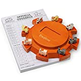 Exqline Mexican Train Dominoes Accessory Set - Including Wooden Hub, 8 Metal Train Markers and 70-Sheets Scorepad, Great Addition to Domino Game