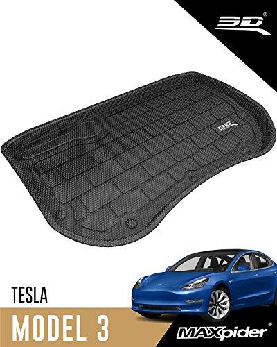 3D MAXpider Passgenaue Allwetter Vordere Kofferraummatte für Tesla Model 3 2017-2020 (Vor 2020 Aug.)
