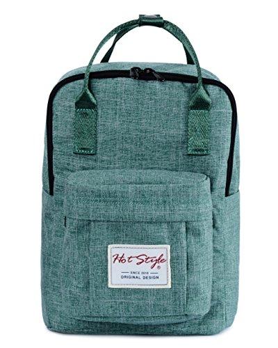 BESTIE 12' Small Backpack for Women, Girl's Cute Mini Bookbag Purse, Little Square Travel Bag, PowderBlue