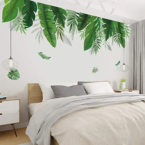 PMSMT Pegatinas de Pared de Hojas de plátano de Plantas Tropicales para Sala de Estar, Dormitorio, calcomanías de Vinilo ecológicas para Pared, murales artísticos, póster, decoración del hogar