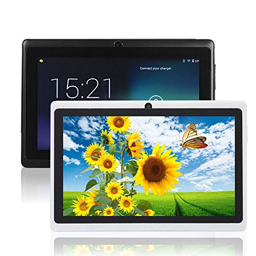 Q88 7 Pulgadas Allwinner A33, Fenghong de 1,5 GHz Quad Core Google Android Tablet PC, 1G + 8G, cámara Dual, WiFi, Bluetooth, Mini USB, G-Sensor, Soporte SD / MMC / TF