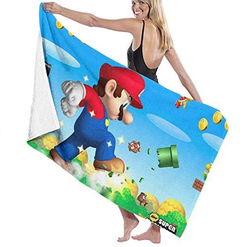 Custom made Super Mario Bros - Toallas de baño de microfibra (70 x 140 cm), diseño de Super Mario Bros