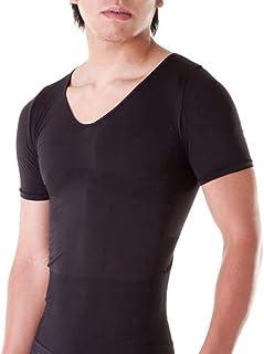 加圧シャツ メンズインナー 特殊な発熱素材 シェイプアップ 加圧インナー ダイエットシャツ 半袖シャツ ブラック 黒 【国内メーカー公式】 Mサイズ