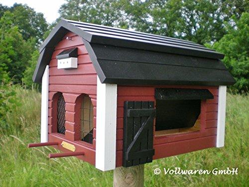 ORIGINAL WILDLIFE GARDEN Vogelhaus FUTTERSCHEUNE rot Multiholk Schweden Stil Futterhaus