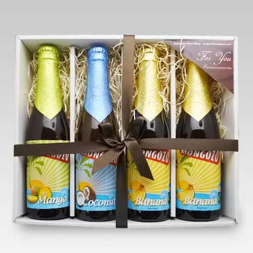 【即日発送】ベルギービール モンゴゾ 3種4本 (バナナ×2・マンゴー・ココナッツ)セット[飲み比べセット] (通常ギフト)