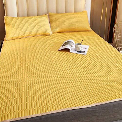 WXHHH Sommer-EIS-Silk Matratze, Faltbares Sommer-Schlafenmatte Latex-Matratze Atmungsaktive Soft Mit Pillowcase 180 * 200cm