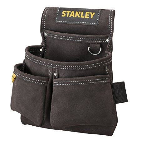 Stanley STST1-80116 Werkzeug- und Hammertasche aus Leder, doppelt mit Nieten verstärkt