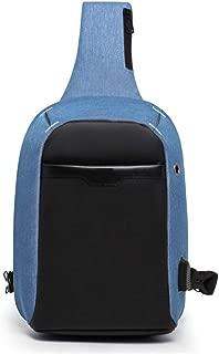 Men's Casual Waterproof Chest Bag, Blue Fashion Shoulder Bag, Anti-Theft Slung Shoulder Bag,Blue