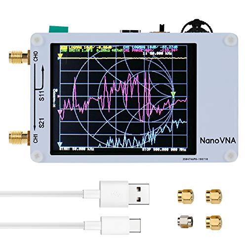 KK moon ベクトルネットワークアナライザー DIY 50KHz-900MHz デジタルディスプレイ タッチスクリーン 短波MF HF VHF UHFアンテナアナライザー定在波
