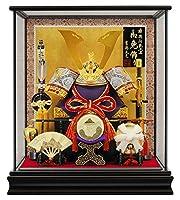 五月人形 コンパクト 吉徳 兜ケース飾り 兜飾り 兜12号 h035-ys-537143