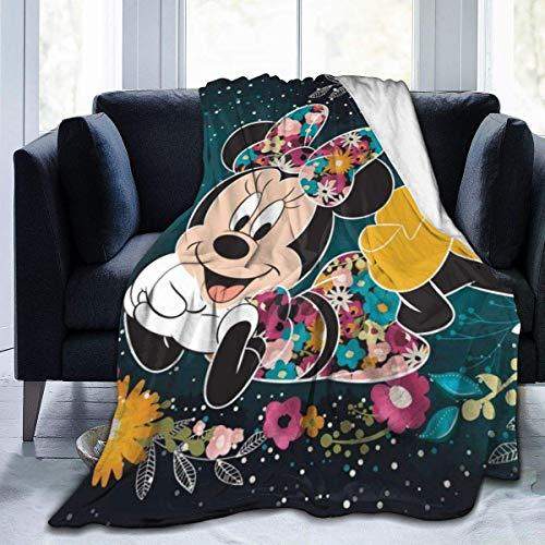 WH-CLA Manta De Viaje,Minnie Mouse De Dibujos Animados Manta Súper Suave Borrosa Mantas De Cama Franela Manta De Microfibra Manta De Sofá