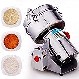 Molinillo de café de preparación totalmente automático Productos Molinillo de grano portátil 1000G Molinillo de grano de hierba de 220 V Molinillo de cereal de especias Molinillo de harina en polvo, 3