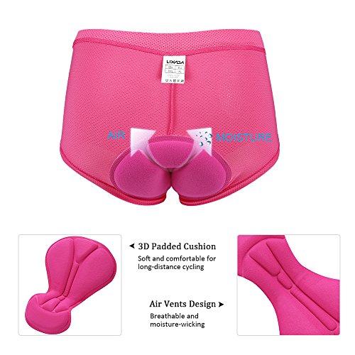 Lixada Damen Unterhose Radsport Underwear Pants Gel 3D gepolsterte Bike Fahrrad - 5