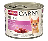 Comida para gatos animonda Carny Kitten, comida húmeda para gatos hasta 1 año, Baby Paté, 6 x 200 g