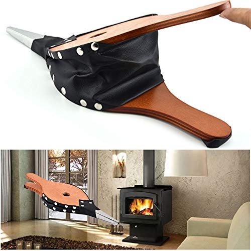 Best Price Fireplace Bellows Wood Air Blower Leather Fire Bellow Cast Nozzle, Small Oak Hand Waxed O...