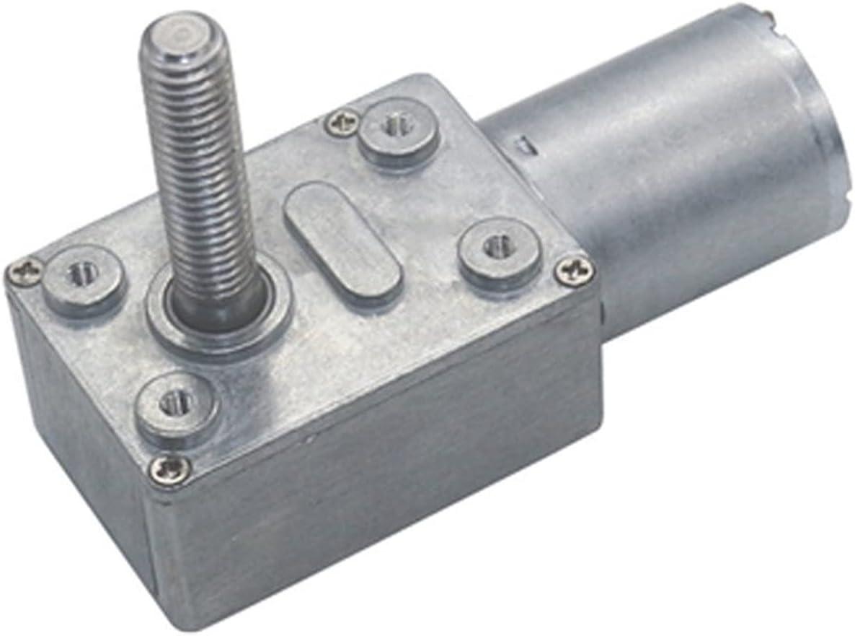 Micromotor Alta 6-150RPM par motor de corriente continua de velocidad ajustable autoblocante inversa M8 roscado eje eléctrico del motor de engranaje helicoidal DC 6V 12V 24V Los motores de bricolaje s