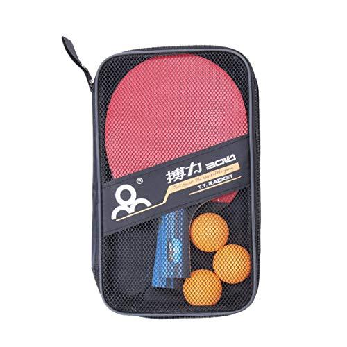 LIOOBO Juego de Raquetas de Ping Pong de Padel de 2 Piezas Juego de Bolas de Juego Profesional Caja de Almacenamiento de Bolas Kit de Raqueta recreativa